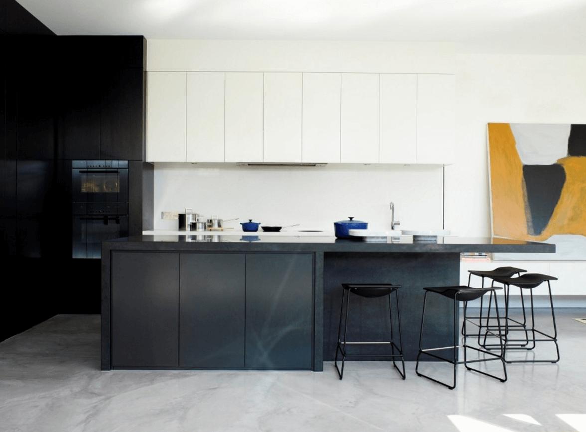 Чёрный цвет в дизайне кухни - фото 12