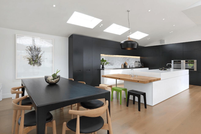 Чёрный цвет в дизайне кухни - фото 14