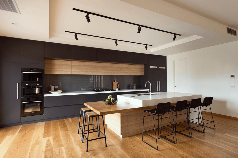 Чёрный цвет в дизайне кухни - фото 16