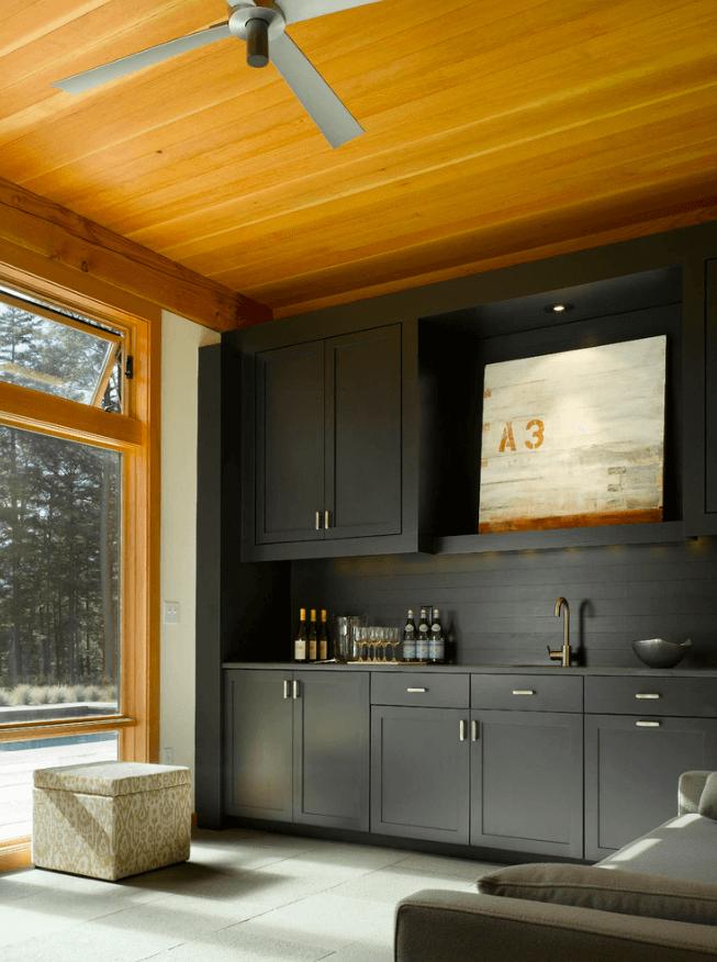 Чёрный цвет в дизайне кухни - фото 17