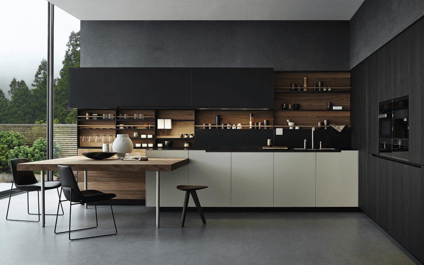 Чёрный цвет в дизайне кухни - фото 18