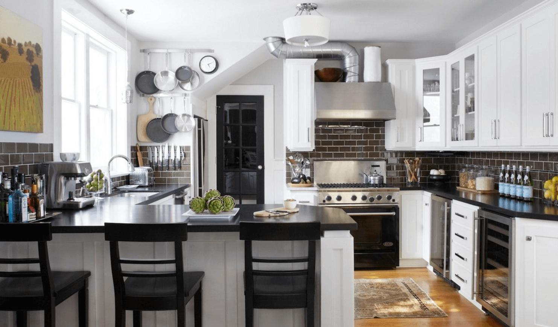 Чёрный цвет в дизайне кухни - фото 19