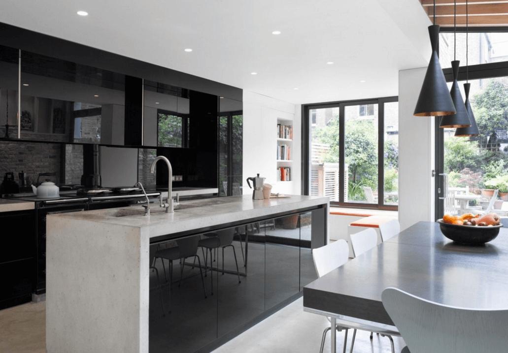 Чёрный цвет в дизайне кухни - фото 20