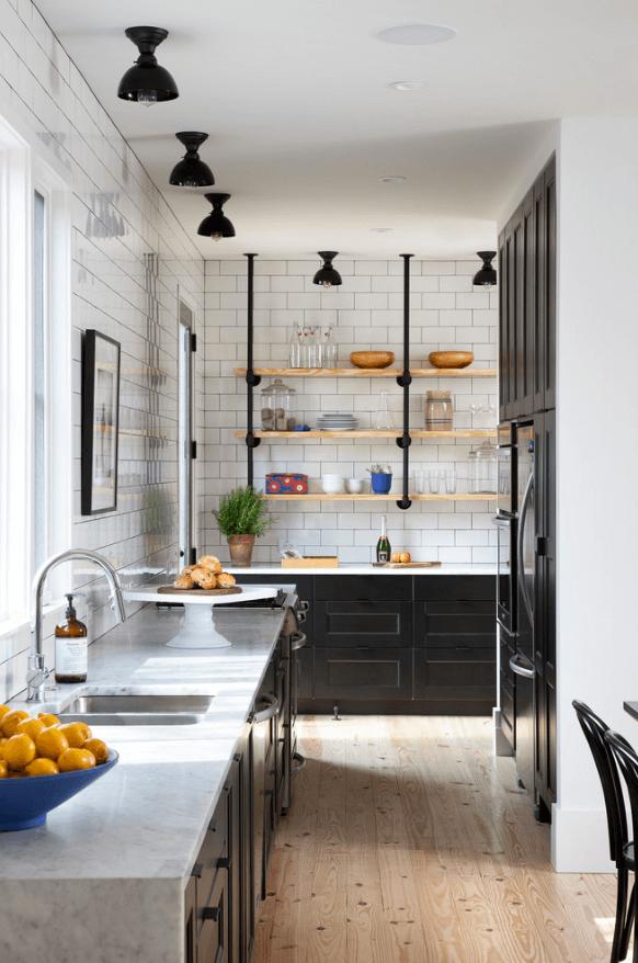 Чёрный цвет в дизайне кухни - фото 4