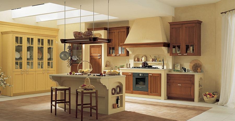 Кухня Villiage от Arrital в жёлтом цвете