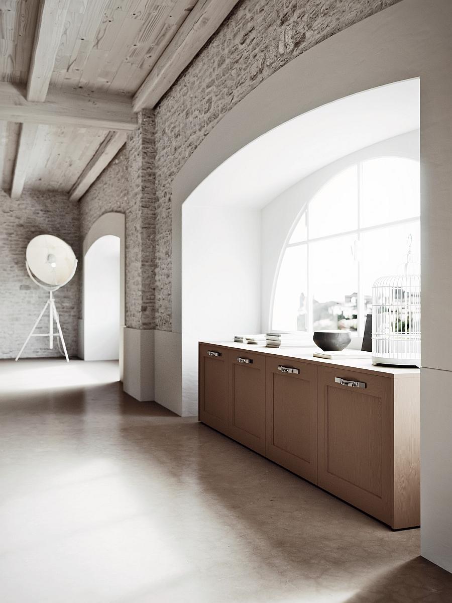 Классический дизайн деревянной кухни Villiage от Arrital