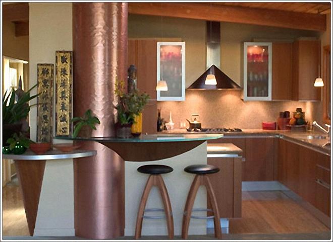 Стильный дизайн интерьера кухни в медных оттенках от MARK MORRIS DESIGN GROUP