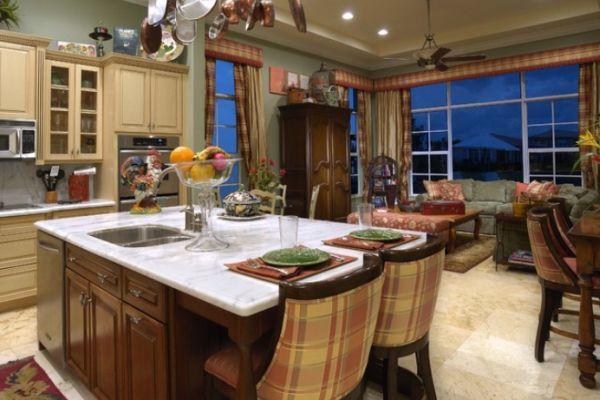 Современный дизайн уютного интерьера кухни