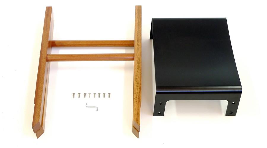 Барный табурет из коллекции Sapele Composite в разобранном виде