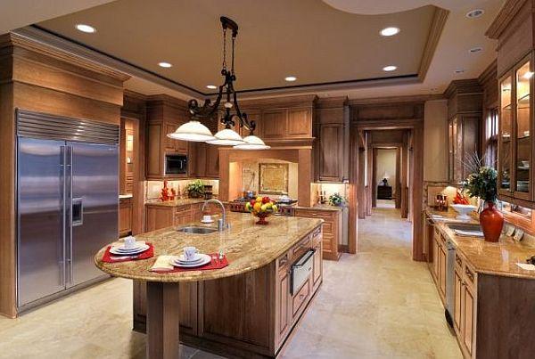Оригинальный дизайн кухонного гарнитура в стиле модерн