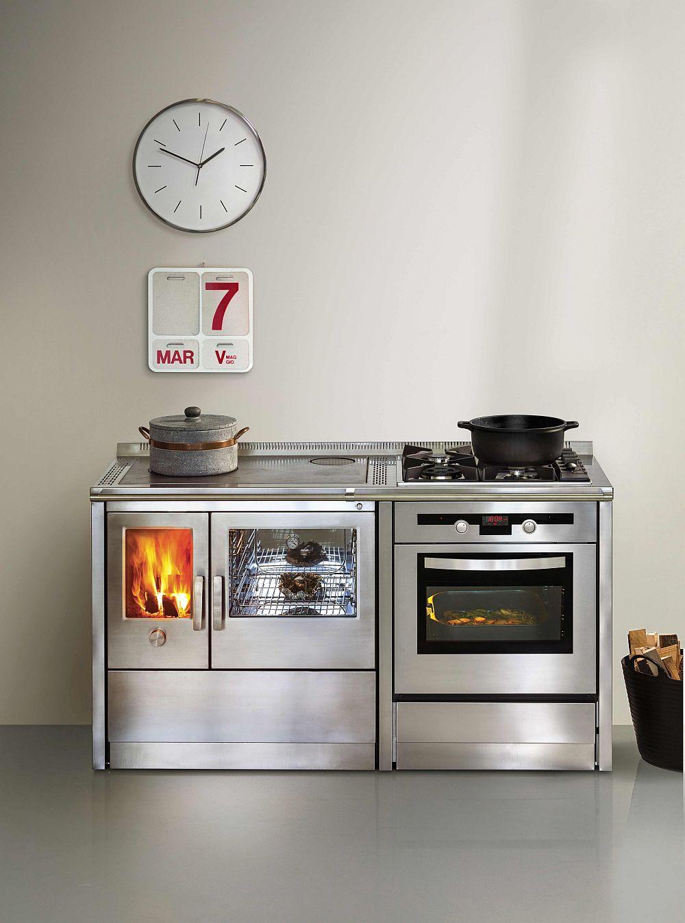 Металлическая кухонная печь