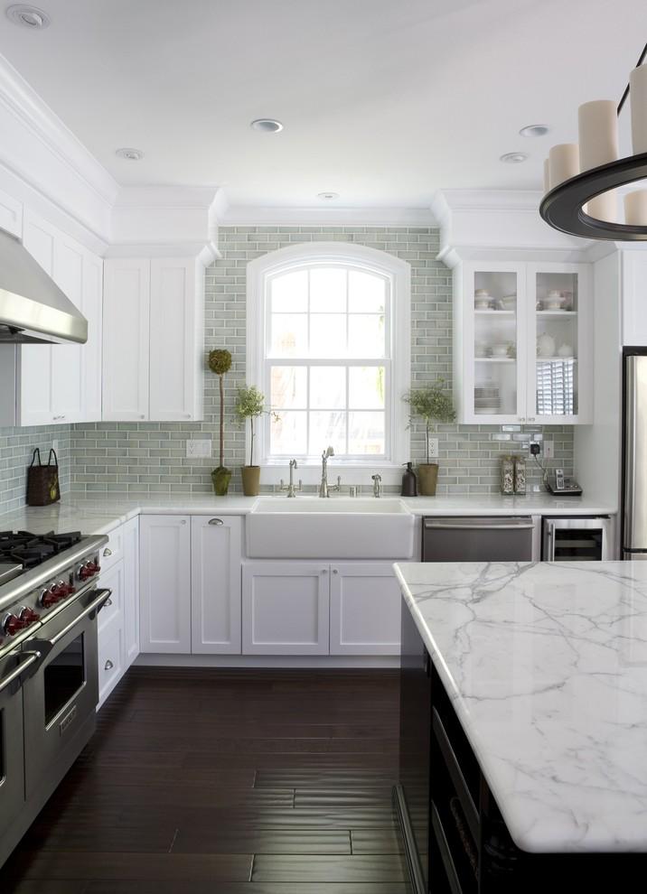 Die Arbeitsfläche für die Küche