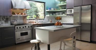 Изысканный дизайн интерьера островной кухни от artdecor