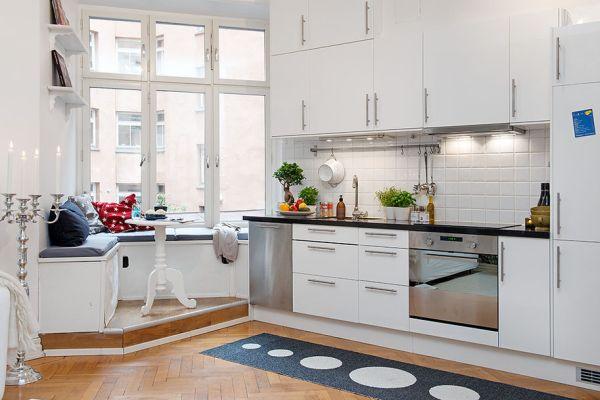 Кухня в стиле минимализм в белом цвете