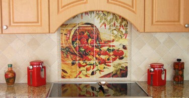 Дизайн кухонного фартука в стиле прованс от Linda Paul Studio