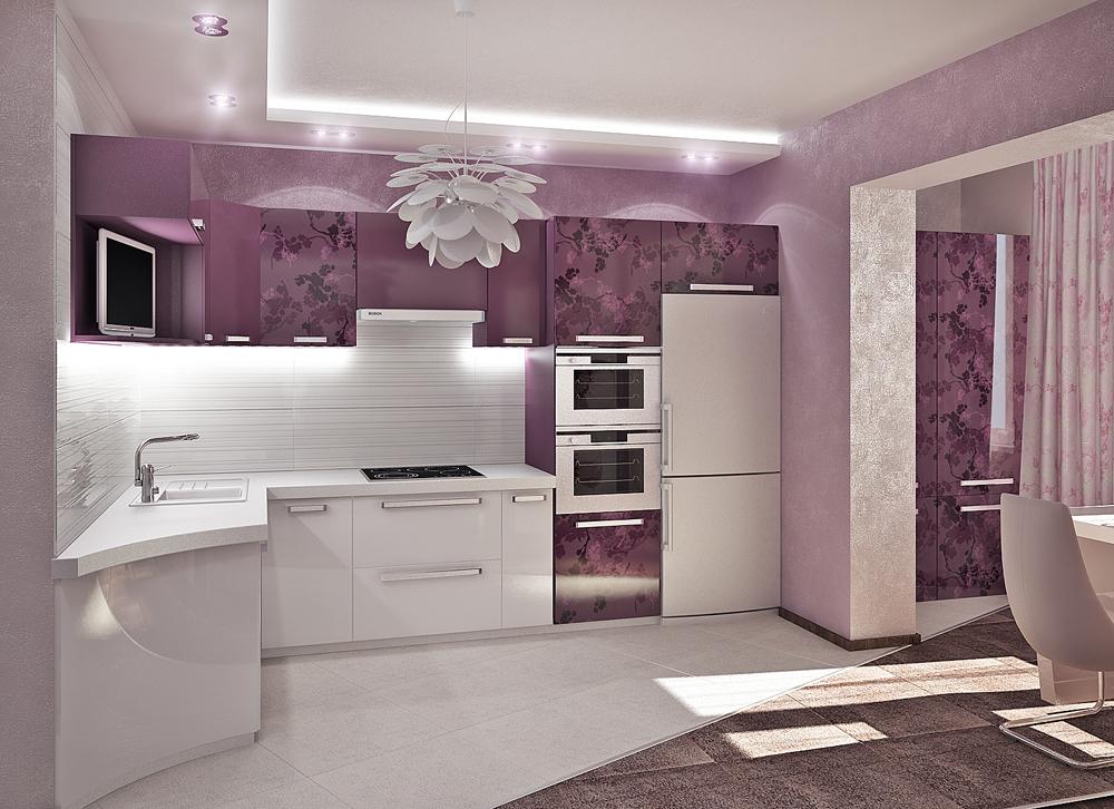 Оригинальный <u>дизайн</u> дизайн интерьера функциональной кухни в стиле модерн