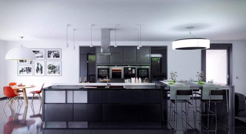 Черная кухня в интерьере: оригинальный дизайн от The Poles Company