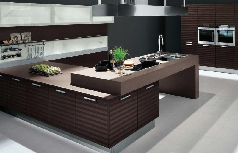Оригинальный дизайн тёмно-коричневой кухни Chic от The Poles Company
