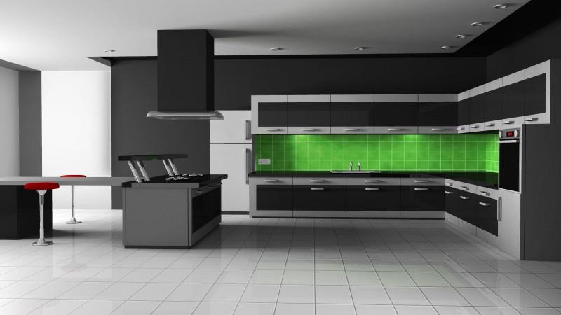 Оригинальный дизайн чёрной кухни Futuristic от The Poles Company