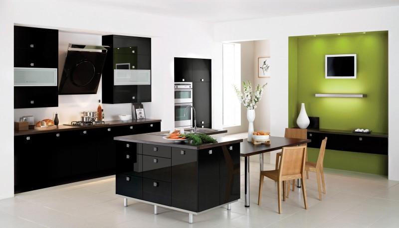 Оригинальный дизайн чёрной кухни Quaint от The Poles Company