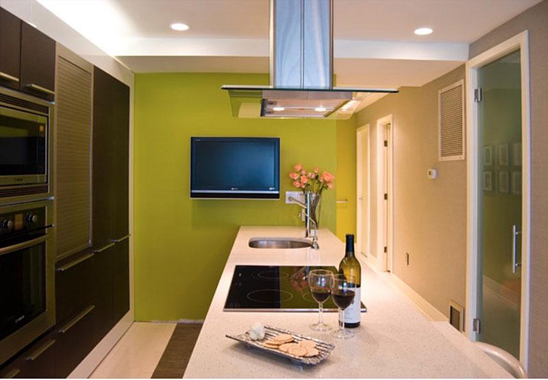 Стены кухни под покраску фото в интерьере