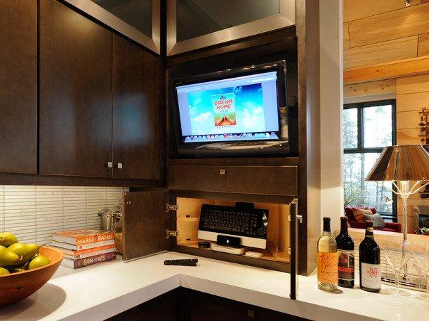 телевизор в интерьере кухни фото