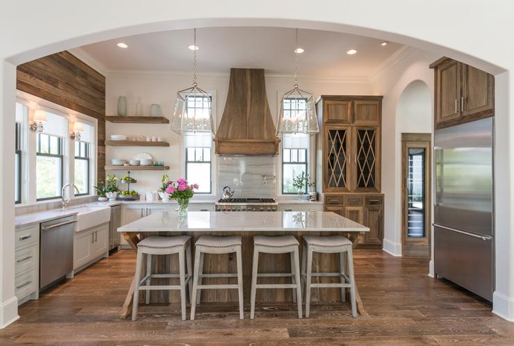 Деревенский стиль в интерьере кухни - необычный вариант. Фото 9