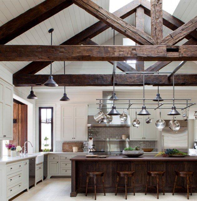 Деревенский стиль в интерьере кухни - интересный вариант. Фото 1