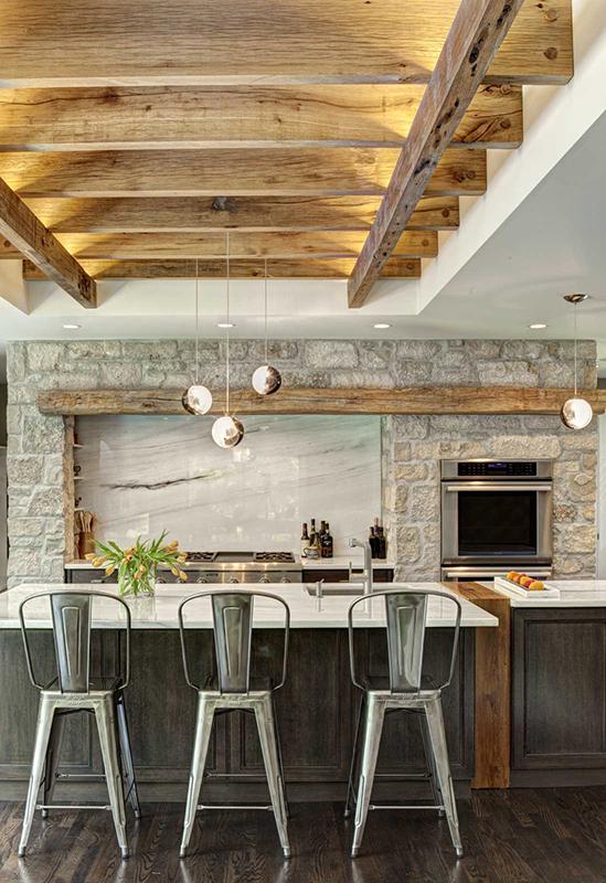 Деревенский стиль в интерьере кухни. Фото 3