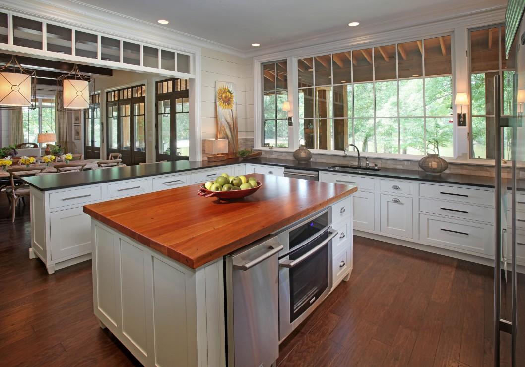 Деревянные кухонные столешницы из полированного дерева- фото 2