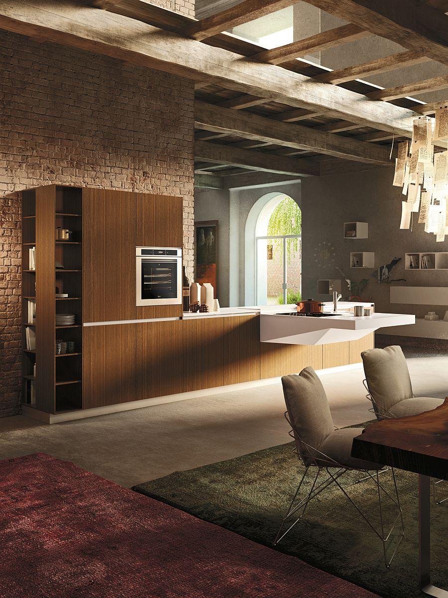 Деревянный кухонный гарнитур - Фото 36
