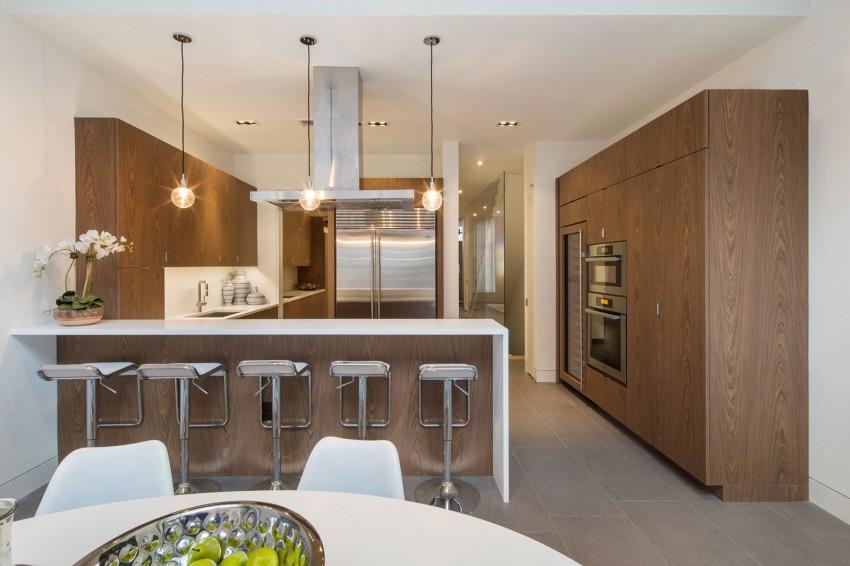 Деревянный кухонный гарнитур - Фото 42
