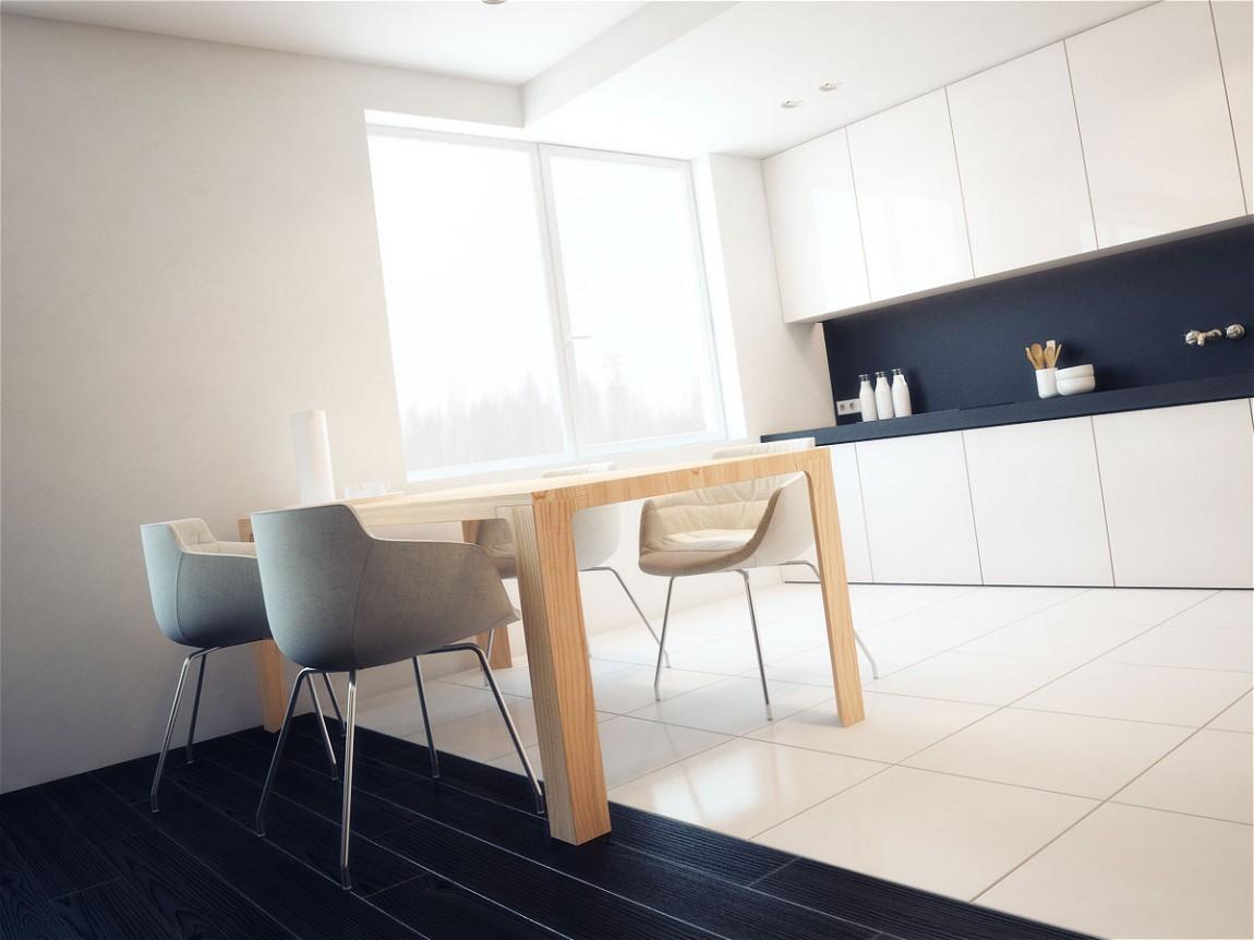 Роскошный деревянный стол на кухне - Фото 38