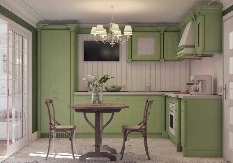 Роскошный деревянный стол на кухне - Фото 45
