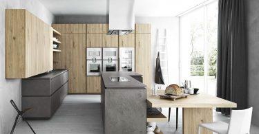 Деревянные кухни в стиле модерн от Cesar