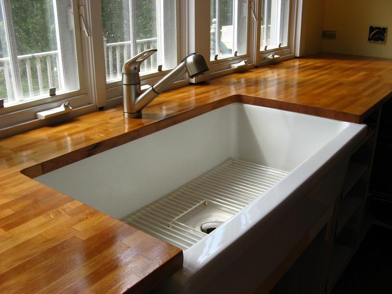 Деревянные кухонные столешницы из полированного дерева- фото 4