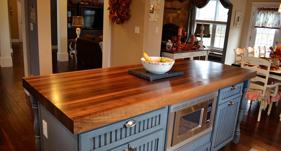Деревянные кухонные столешницы из полированного дерева- фото 5