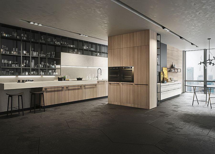 Opera: великолепный минималистский дизайн кухни Snaidero
