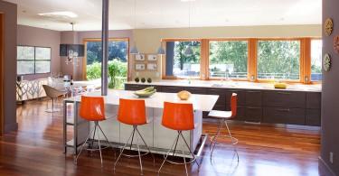Место для завтрака в интерьере кухни