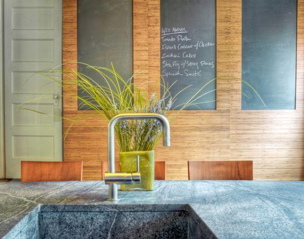 Кухонная раковина, выполненная из голубого гранита