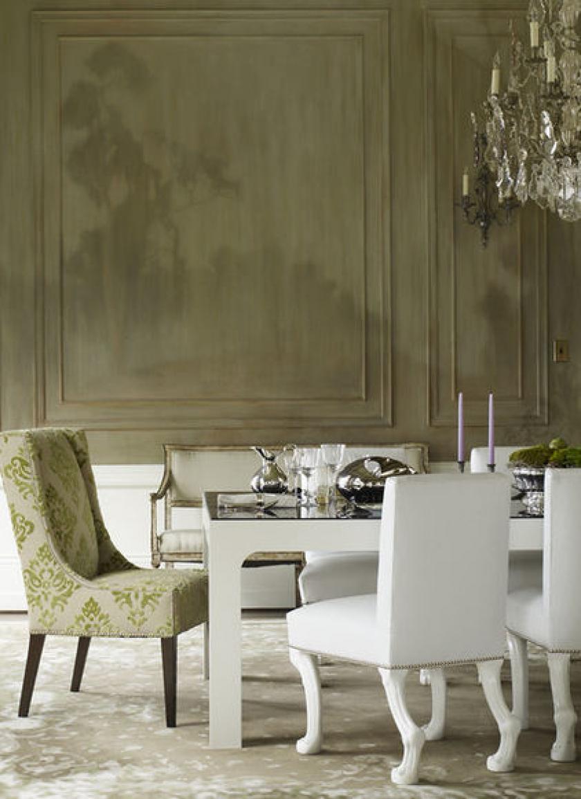 Современная мебель для кухни: стильный обеденный комплект в интерьере