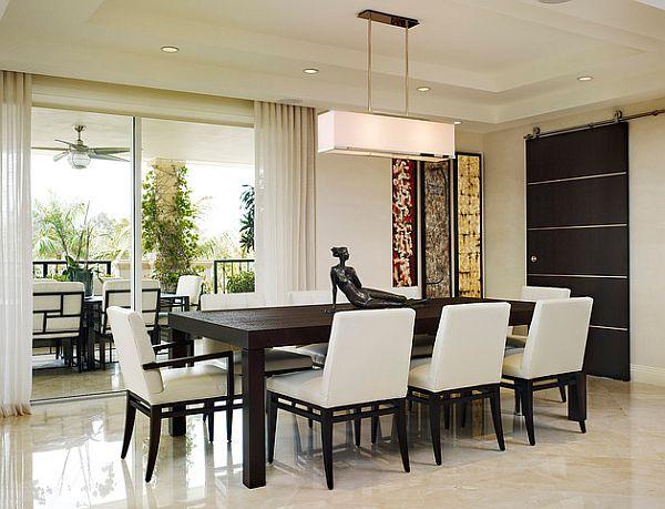 Стильные современные светильники в интерьере кухни