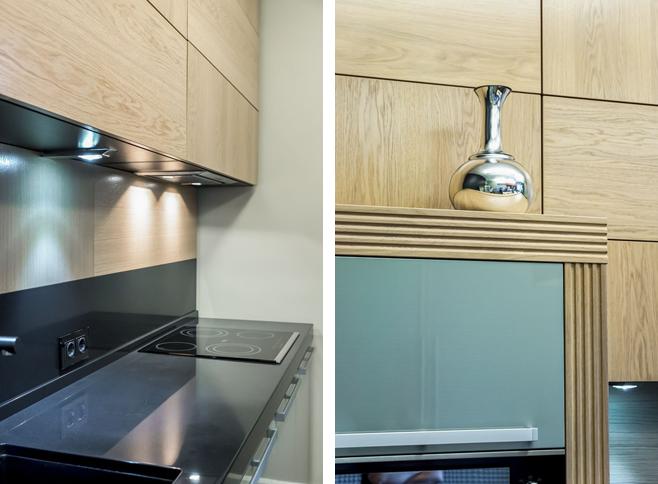 Фотоколлаж: детали Красивое оформление кухни-столовой