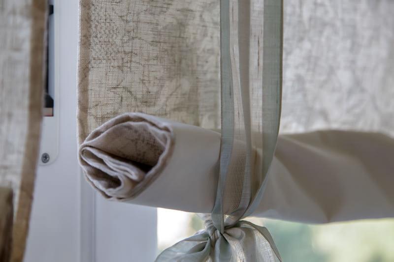 Декор штор при помощи завязок