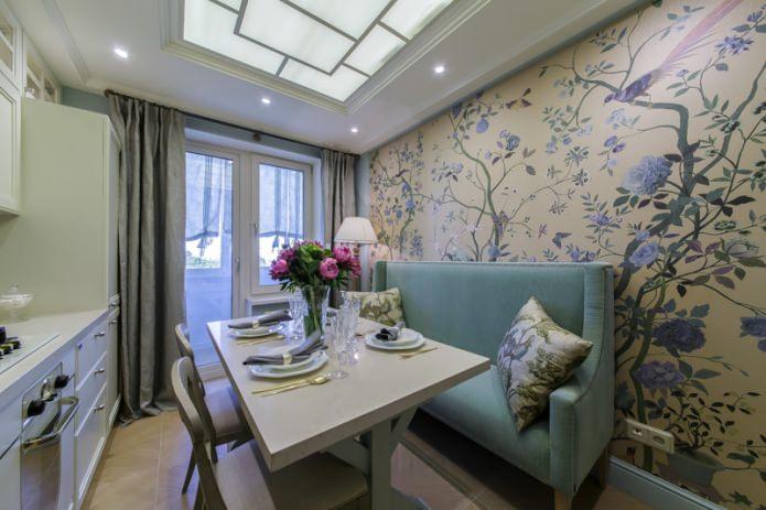 Светлая кухня 10 м - оригинальный дизайн интерьера