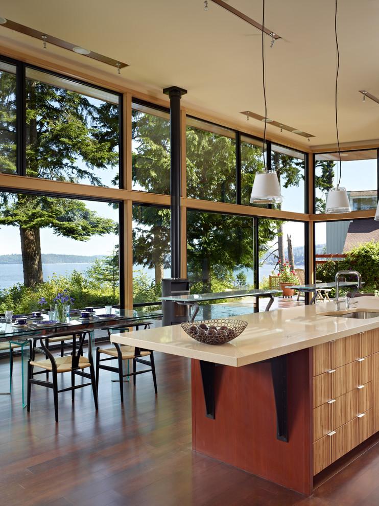 Современный дизайн интерьера кухни - Фото 19