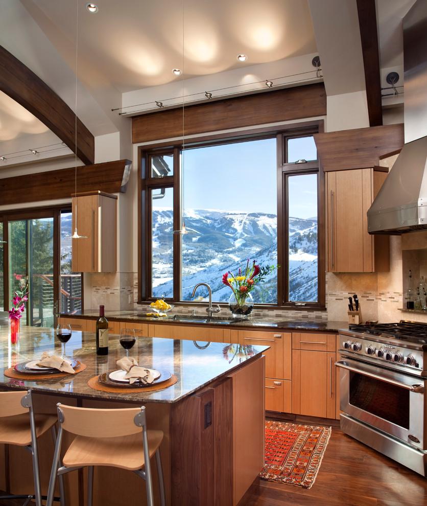 Современный дизайн интерьера кухни - Фото 23
