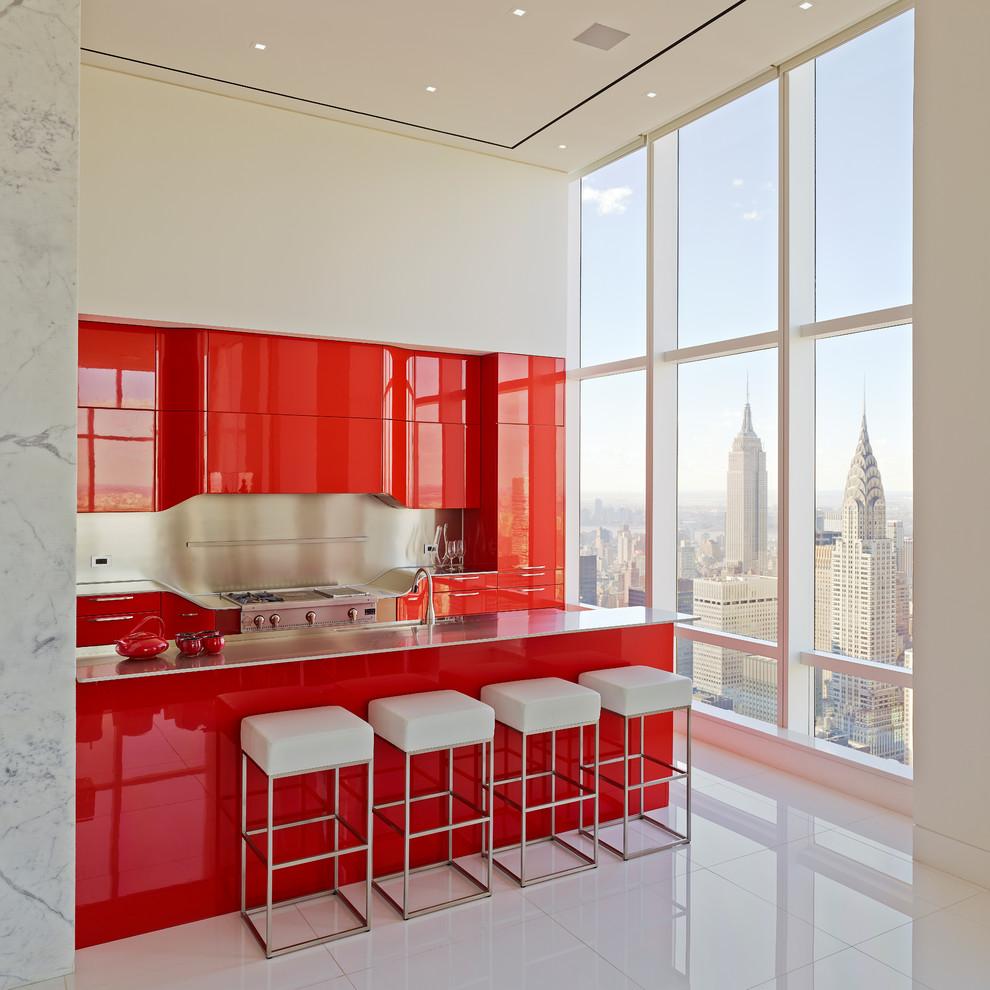 Современный дизайн интерьера кухни - Фото 27