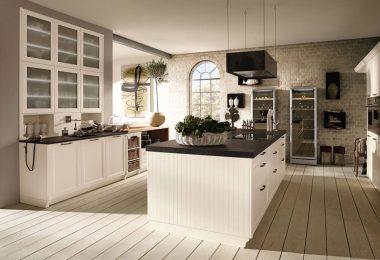 Дизайн интерьера кухни в классическом стиле для частного дома