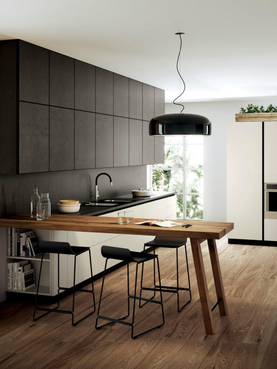 Дизайн кухни с полуостровом - необычный вариант. Фото 1